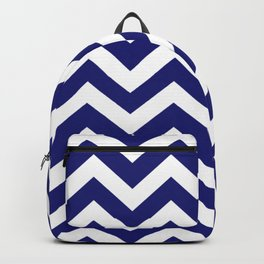 Midnight blue - blue color - Zigzag Chevron Pattern Backpack