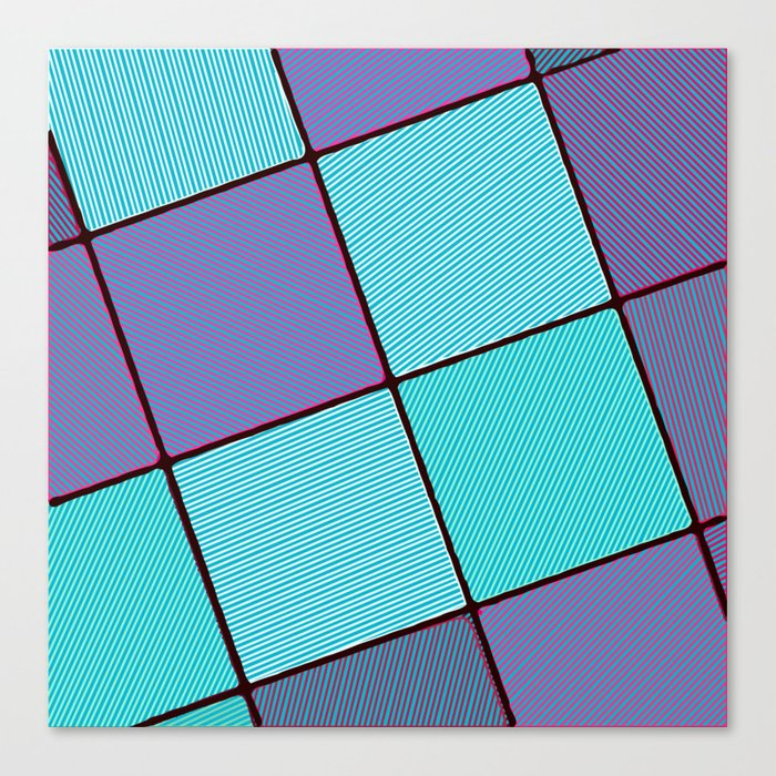 Purple and Aqua Leinwanddruck