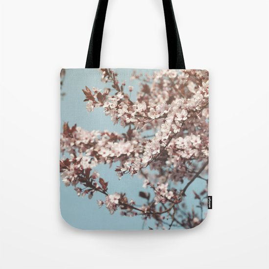 Cherryblossoms against the blue sky Tote Bag