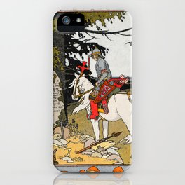 Rider By The Grave By Ivan Biblin iPhone Case