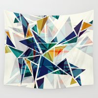 cracked Wall Tapestries featuring Cracked I by AJJ ▲ Angela Jane Johnston