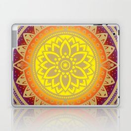 'Infinite Light' Mandala Gold Blue Purple Red Orange Yellow Laptop & iPad Skin