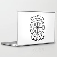 vikings Laptop & iPad Skins featuring Straight to Valhalla, Vikings by ZsaMo Design