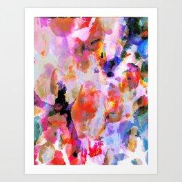 Blushed Abstract  Art Print