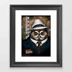 The Usual Suspects // Crazy I. Jones Framed Art Print