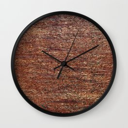 Old golden red grunge background Wall Clock