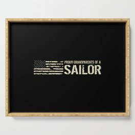 Proud Grandparents of a Sailor Serving Tray