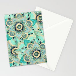 Gilded Emerald Enamel Stationery Cards