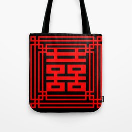 PATTERN ART06-1-Red Tote Bag
