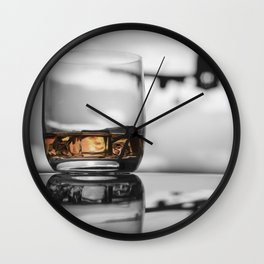 Airport on Ice Wall Clock