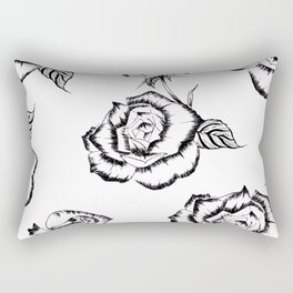 """Rose"" Pattern Rectangular Pillow"