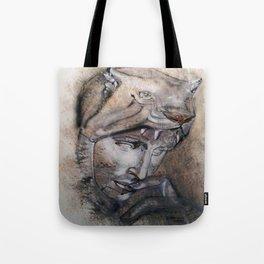 """Wolfquest"" - original is guache. Tote Bag"