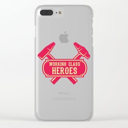 Working Class Hero Retro Worker Gift For Mechanic Clear iPhone Case