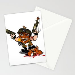 soldier nut cartoon Stationery Cards