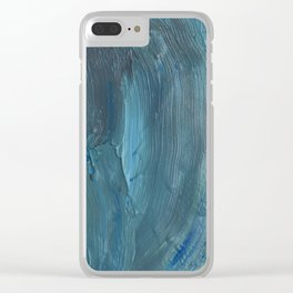 Turquoise Paint Clear iPhone Case