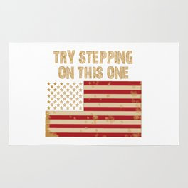 Try stepping on this flag Rug