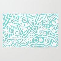 tiffany Area & Throw Rugs featuring Tiffany Doodle by emain