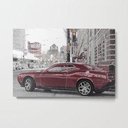North American city life and street scene Metal Print
