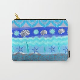 Ocean Theme Zentangle Pattern Carry-All Pouch