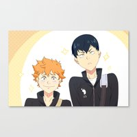 volleyball Canvas Prints featuring Volleyball Birbs by MaeMae