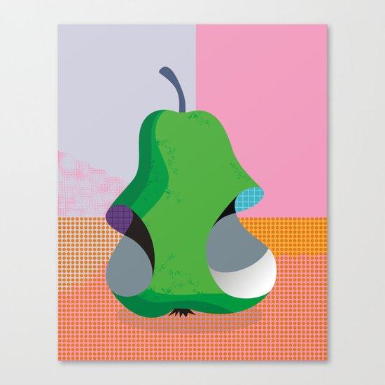 Bitten Pear Canvas Print