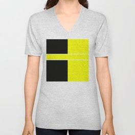 Team Color 6...yellow,black Unisex V-Neck