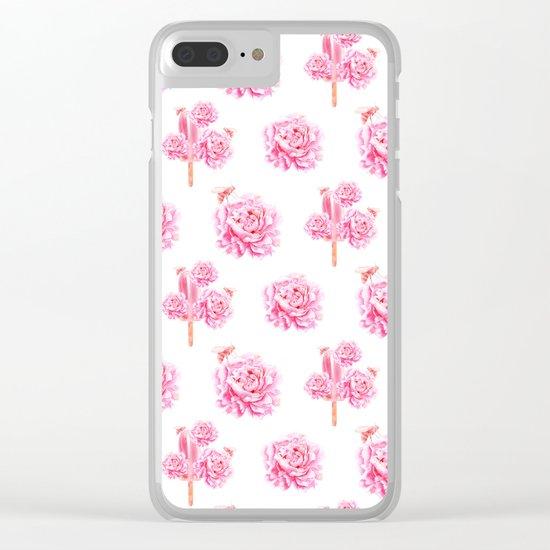 Rose Pop Clear iPhone Case
