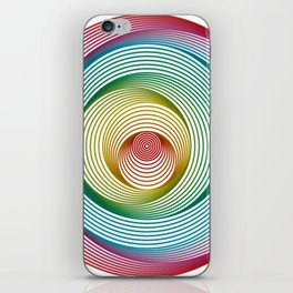 Shifting Circles iPhone Skin