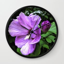 Joyful Floral Wall Clock