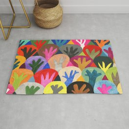 Abstract trees pattern Rug