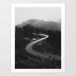 Mountain Road Curves Art Print