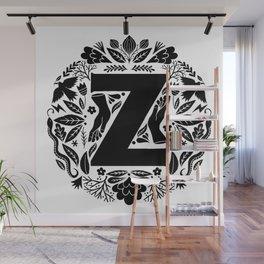 Letter Z monogram wildwood Wall Mural