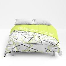 The fitness club . Sport . Lemon white creative sport pattern . Comforters