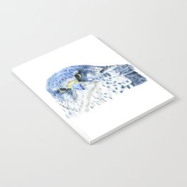 """""""Here's Looking At You"""" painting of a Gyrfalcon by Teresa Thompson Notebook"""