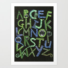 Monster Alphabet. Art Print