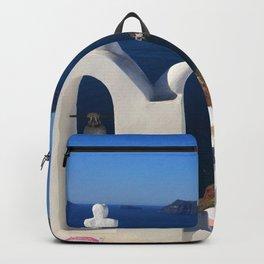 Oia, Greece (photo) Backpack
