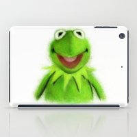 kermit iPad Cases featuring Kermit by KitschyPopShop
