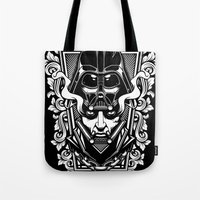 vader Tote Bags featuring Vader by OneAppleInBox