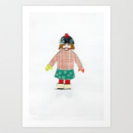 Kicked Outside Art Print