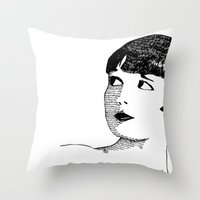 deco Throw Pillows featuring Deco by Addison Karl