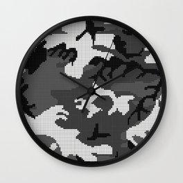 New Digital Camo Wall Clock