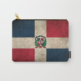 Old and Worn Distressed Vintage Flag of Dominican Republic Carry-All Pouch