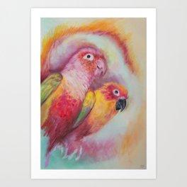 Bird and Birdy Art Print