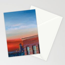 Quarantine Painting 3, Brooklyn Sunsets Stationery Cards