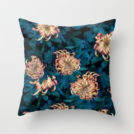Сhrysanthemums Throw Pillow