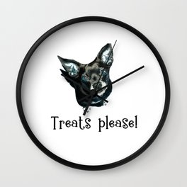 Treats Please! Wall Clock