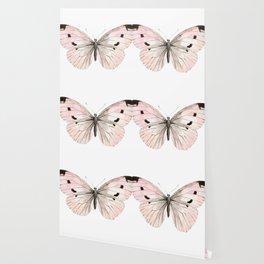Butterfly flutter - soft peach Wallpaper
