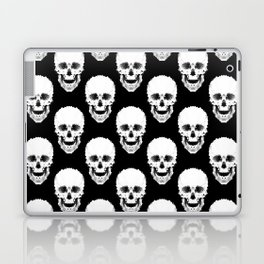 Black and white abstract pattern . Skull Laptop & iPad Skin