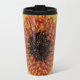 Red and Yellow Flower Travel Mug