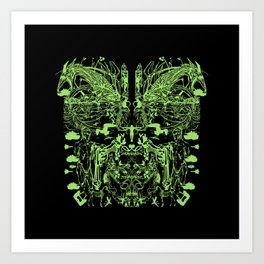 Mask (Shield) Art Print
